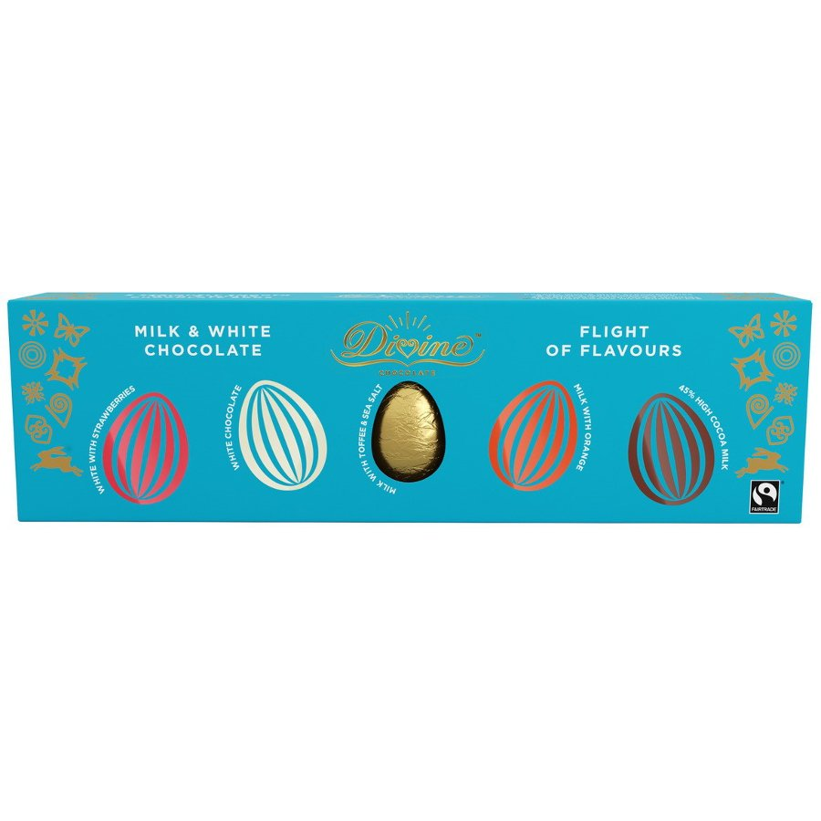 Divine Milk White Chocolate Flights Of Flavours Easter Eggs 100g