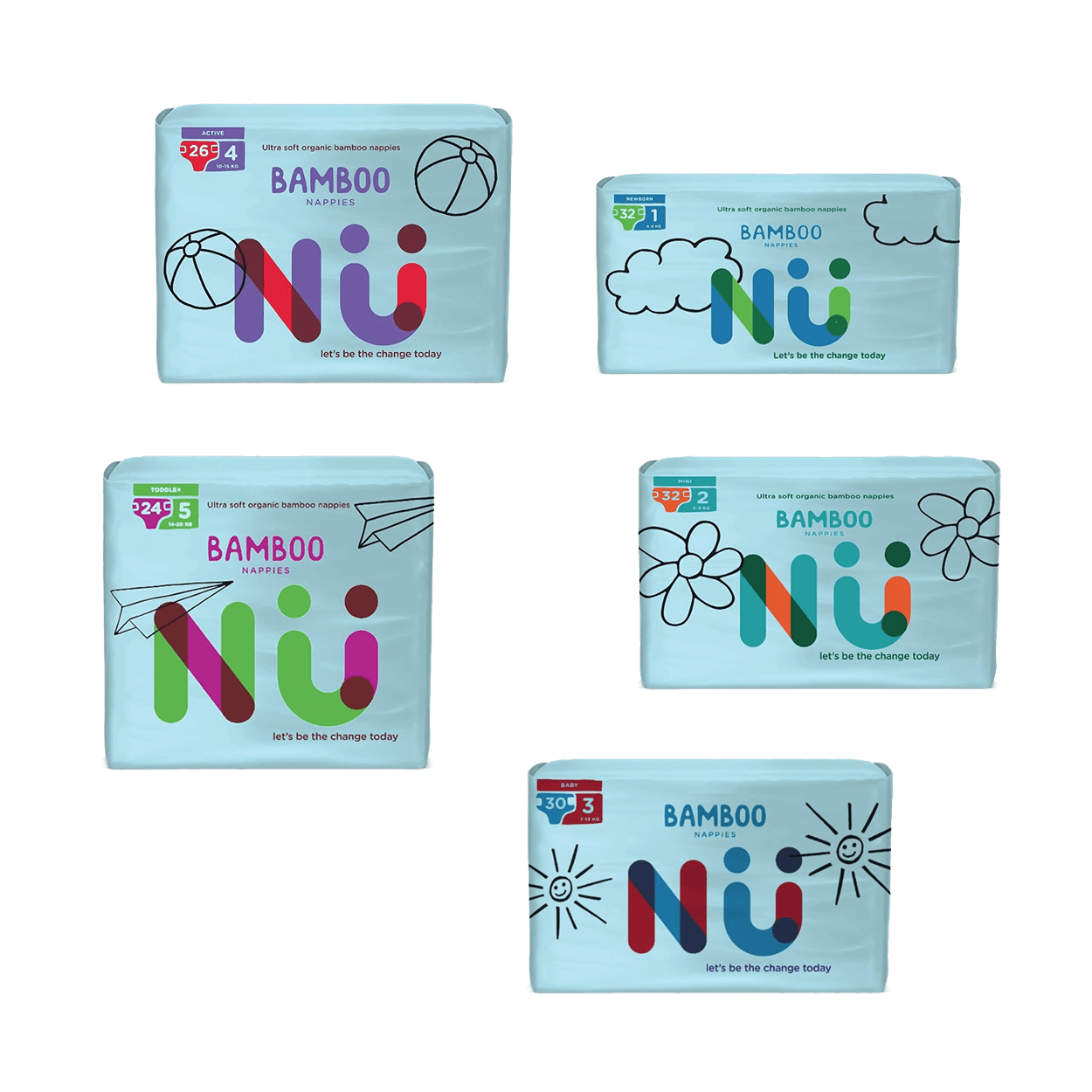 NU Bamboo Nappies